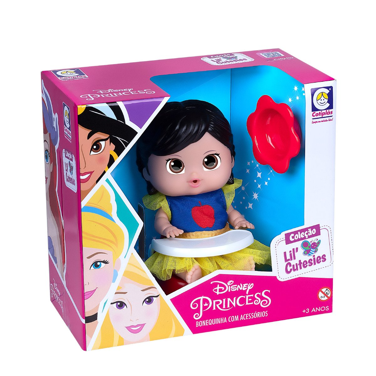 Boneca Princesa Branca de Neve no Cadeirão Cotiplás