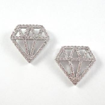 Brinco Diamante Prata