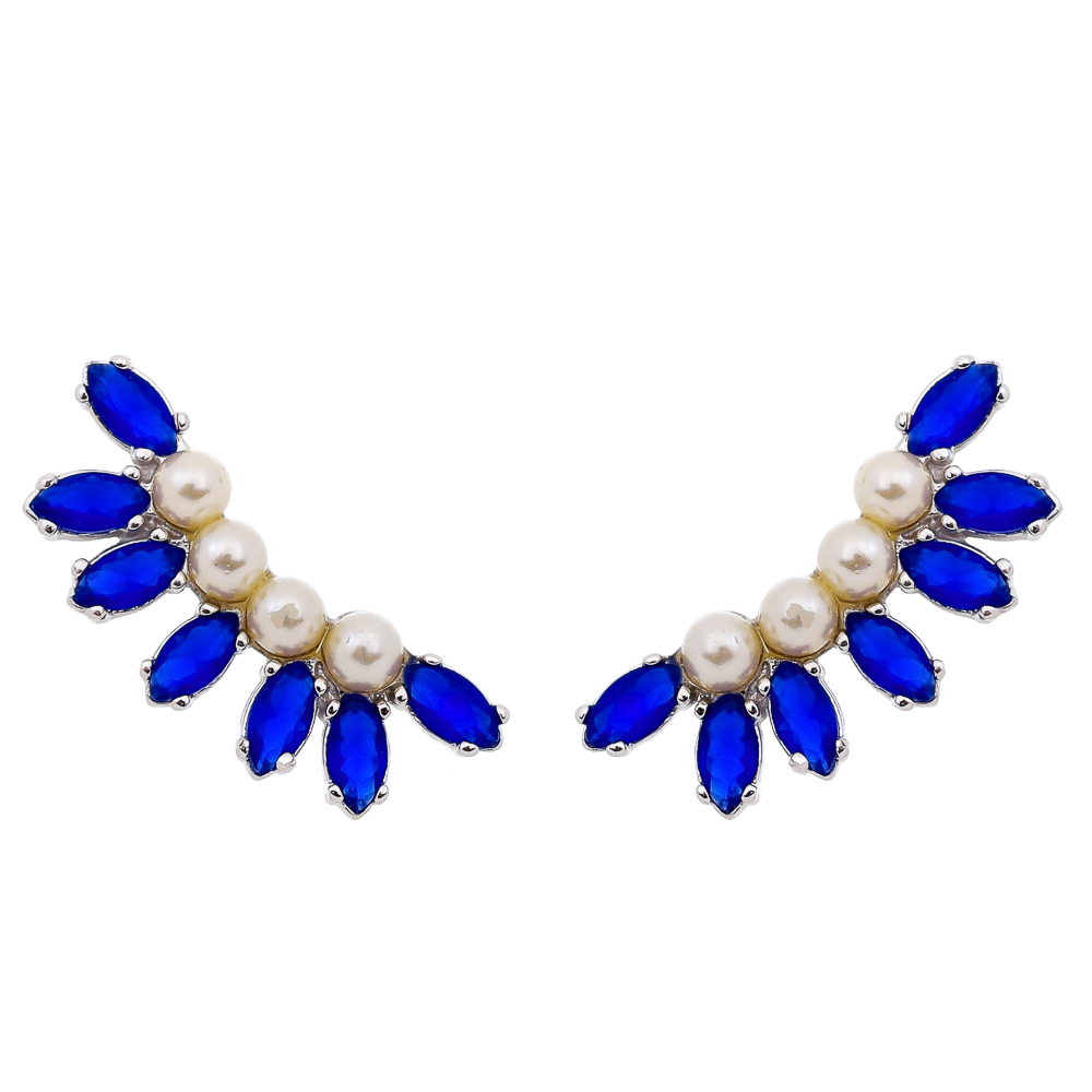 Brinco Ear Cuff Blue - Semi Joia