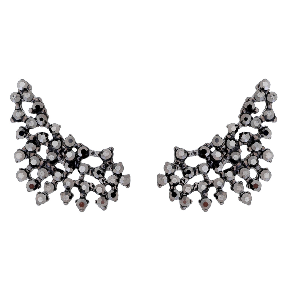 Brinco Ear Cuff Sparkle Grafite - Semi Joia
