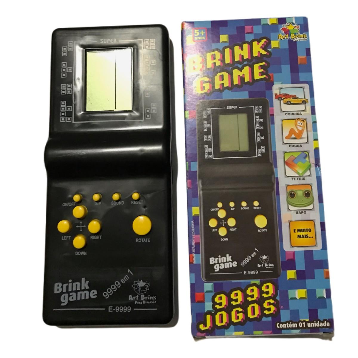 Brink Mini Game Jogo Retrô 9999 em 1 Art Brink