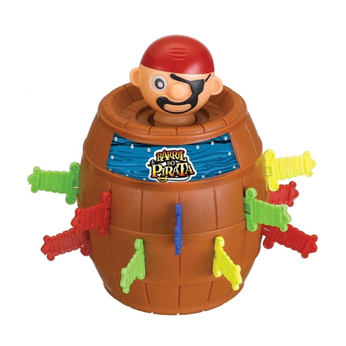 Brinquedo Barril do Pirata 18X13cm Art Brink