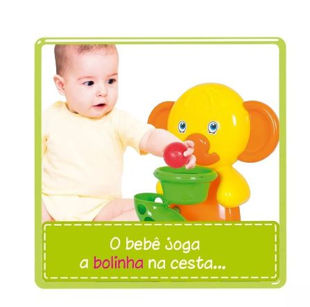 Brinquedo Basquete Elefantinho Atividades Play Time - Cotiplás