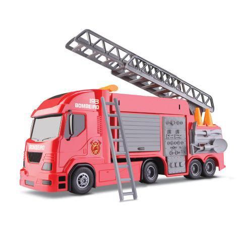 Brinquedo Caminhão Vermelho Pollux Bombeiro 6720 Silmar