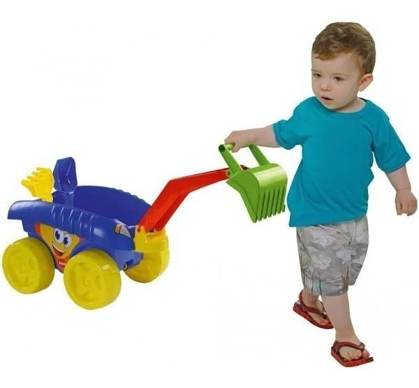 Brinquedo Carrinho de Praia com Escavadeira Euro Car Escavator MK315 Dismat