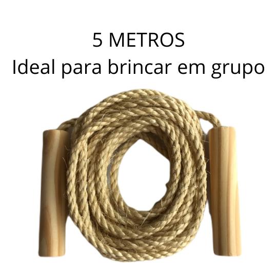 Brinquedo corda de pular coletiva infantil 5M de sisal MCC Brinquedos