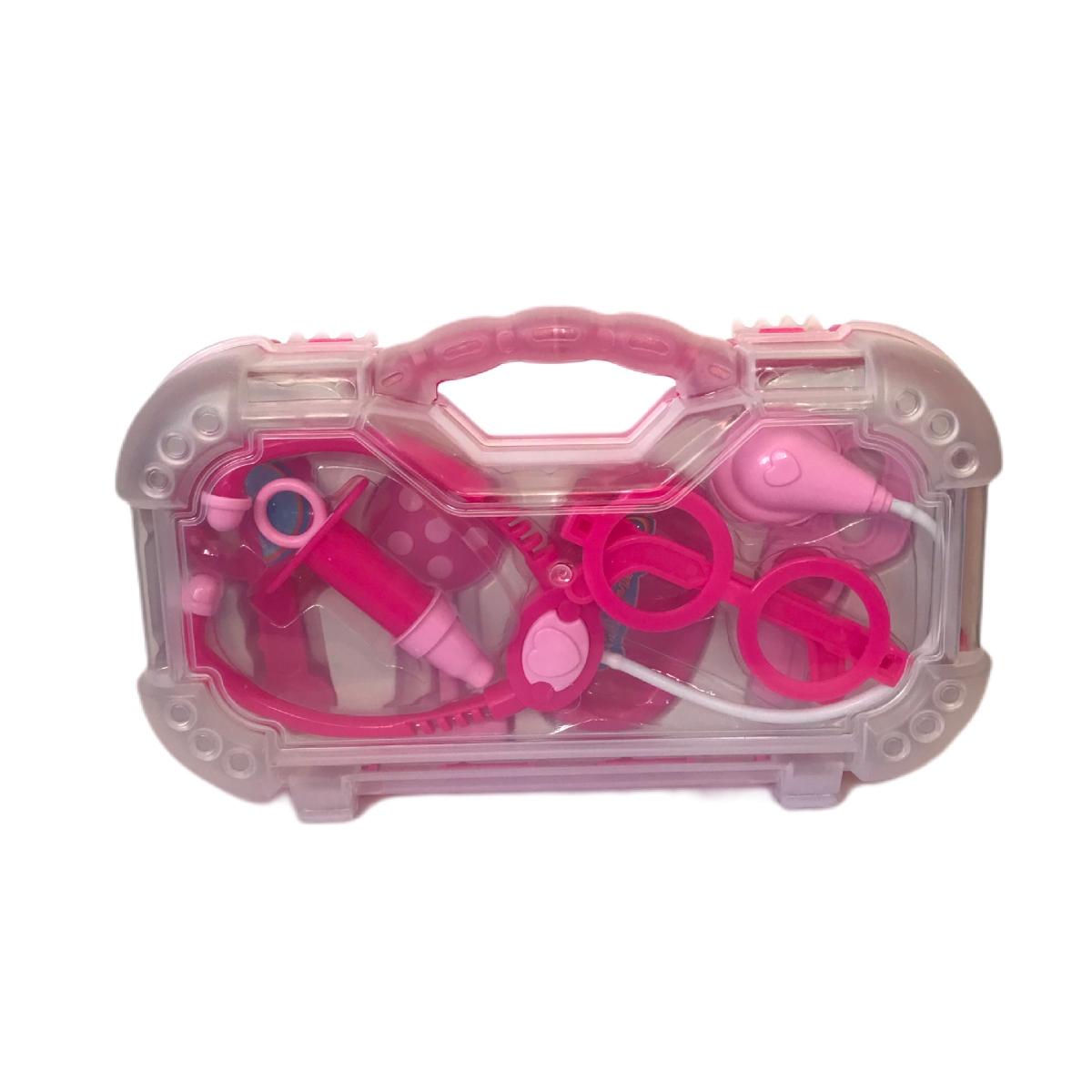 Brinquedo Maleta Médica Rosa Pakitoys
