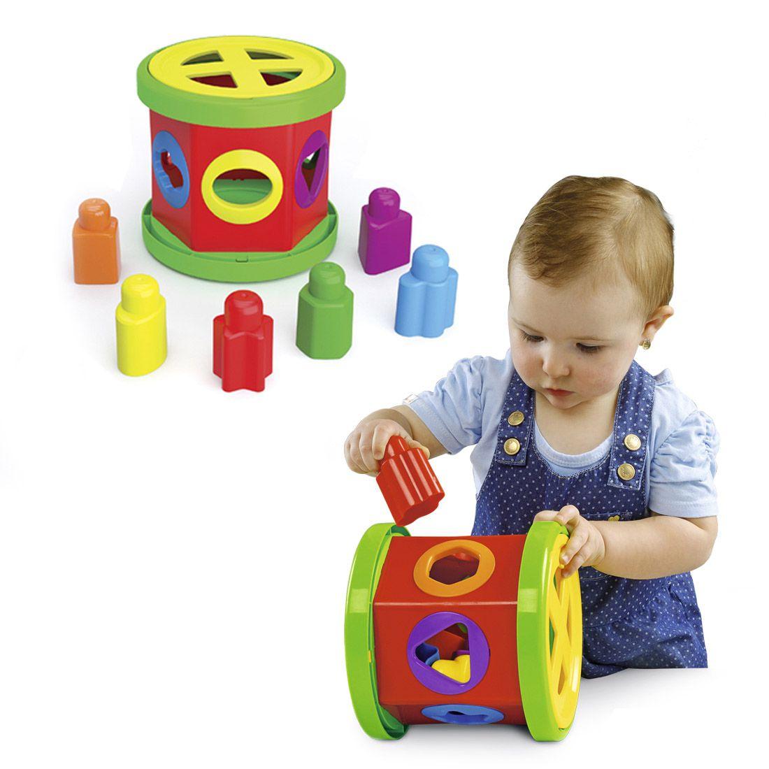 Briquedo de Encaixe Pedagógico Gire e Brinque Dismat