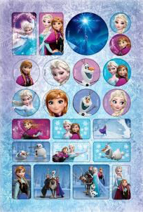 Caderno Brochura Universitário Frozen Magic Elsa e Anna Jandaia