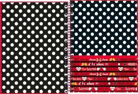 Caderno Espiral Capa Dura Universitário 10 matérias Minnie 200FLS