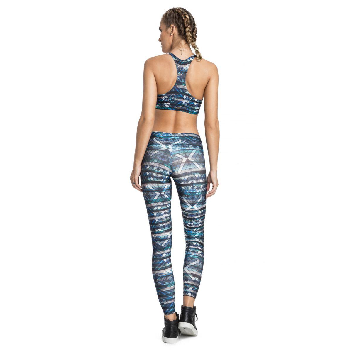 Calça Legging Flex Blue Gym Live