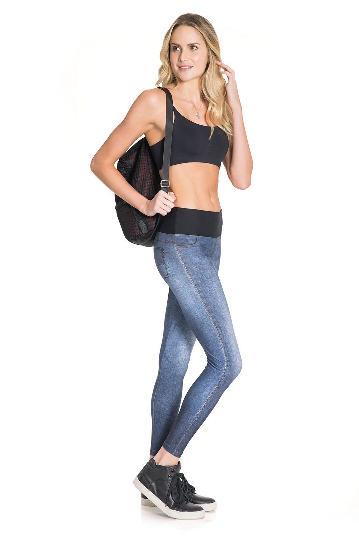 Calça Legging Jeans Boost Wash Live