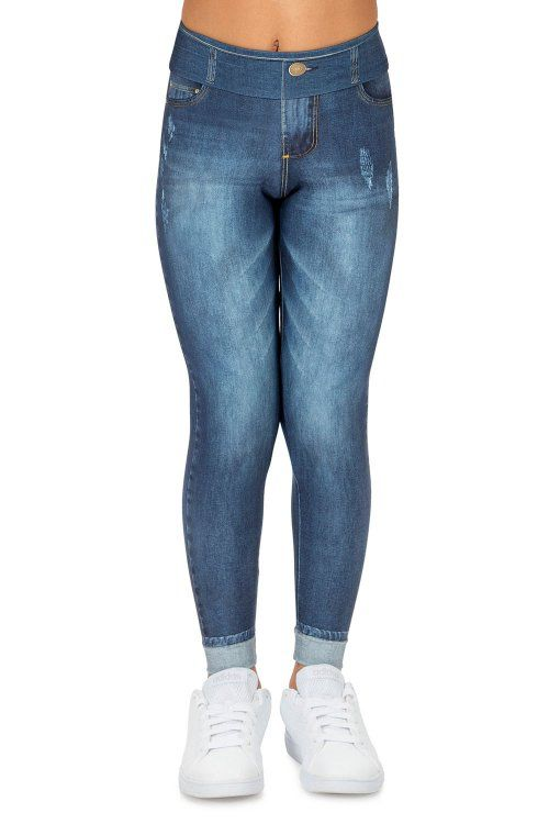 Calça Legging Jeans Plus Motivation Kids Live