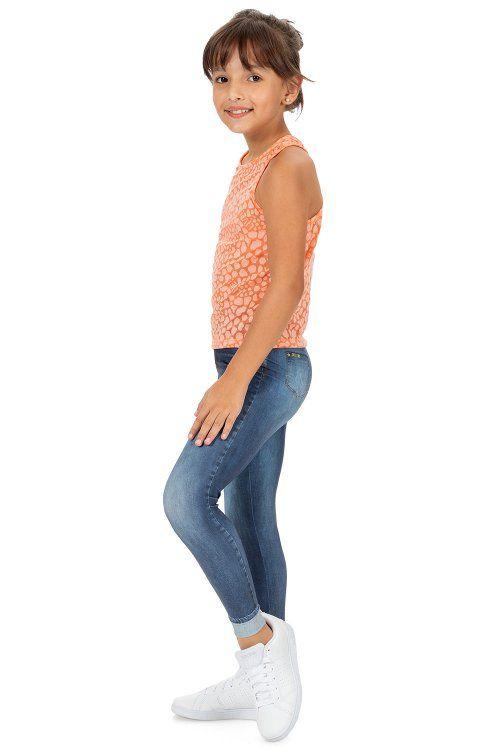 Calça Legging Jeans Plus Motivation Kids Live