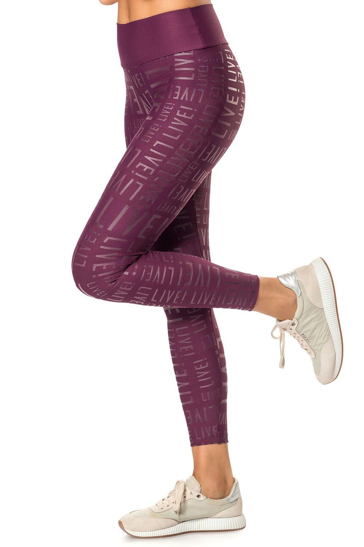 Calça Legging Live! Essential Vinho Live