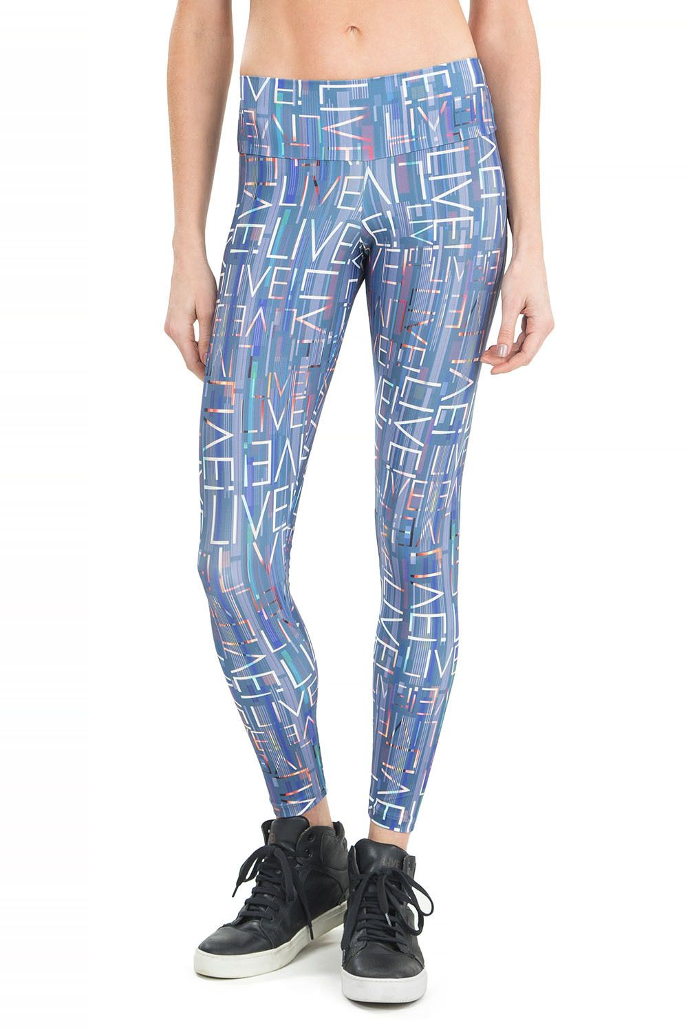 Calça Legging Live in Blue Trademark Live