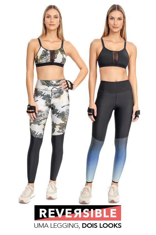 Calça Legging Reversible High Flying Live