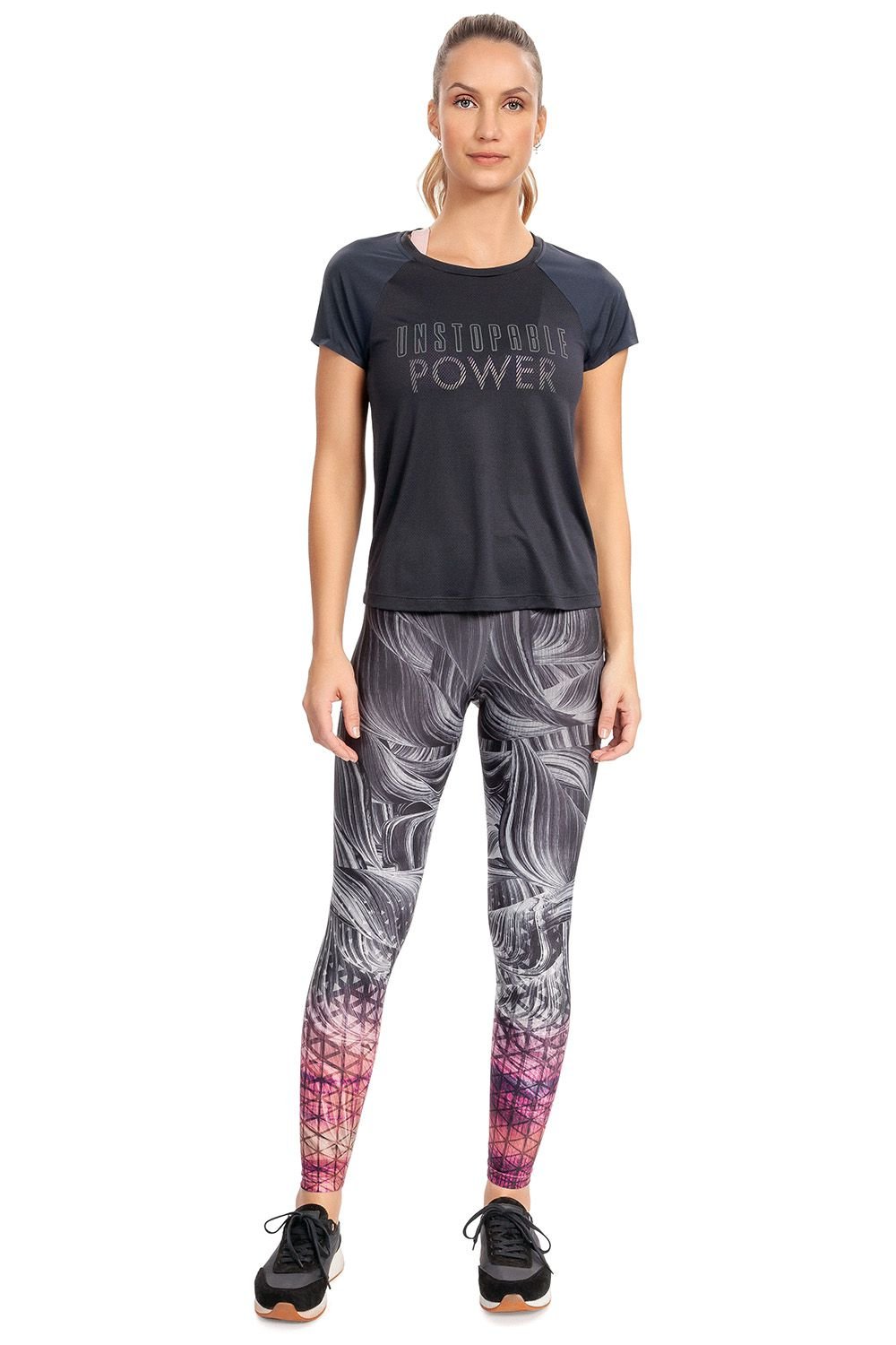 Calça Legging Sculpt Faster Power Glow Live