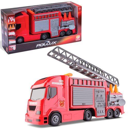 Caminhão Bombeiro Pollux com acessórios Silmar Brinquedos