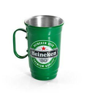 Caneca Alumínio Térmica para Chopp e Cerveja Heineken