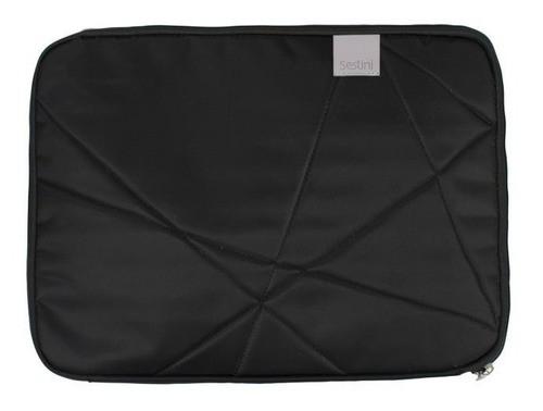 Capa Laptop Preta Matelasse 12'' 20210 Sestini