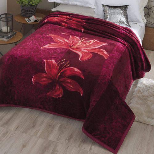 Cobertor Casal Dyuri Vinho Angresse 1 Peça Microfibra Jolitex