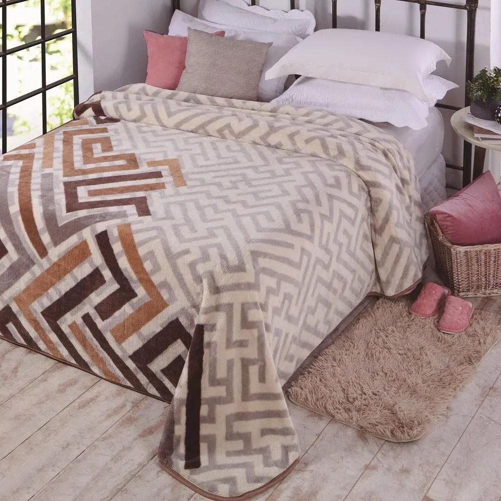 Cobertor Casal Kyor Plus Zurique 1 Peça Microfibra Jolitex