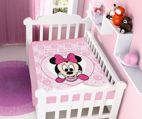 Cobertor Infantil Disney Rosa Minnie Coração Jolitex