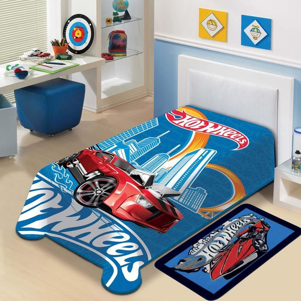 Cobertor Infantil Hot Wheels Solteiro Jolitex