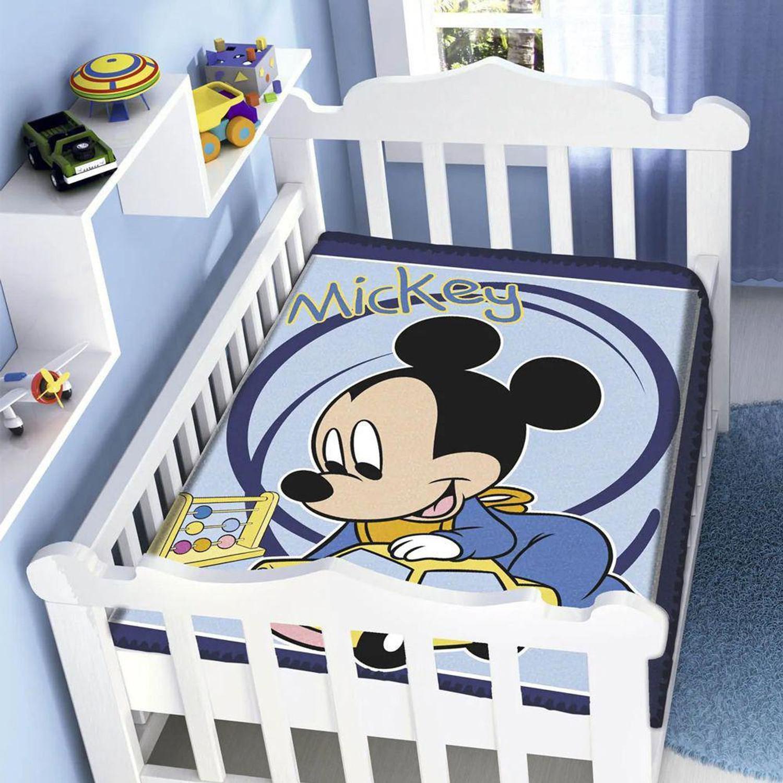 Cobertor Infantil Para Bebê Mickey Carrinho Disney Jolitex