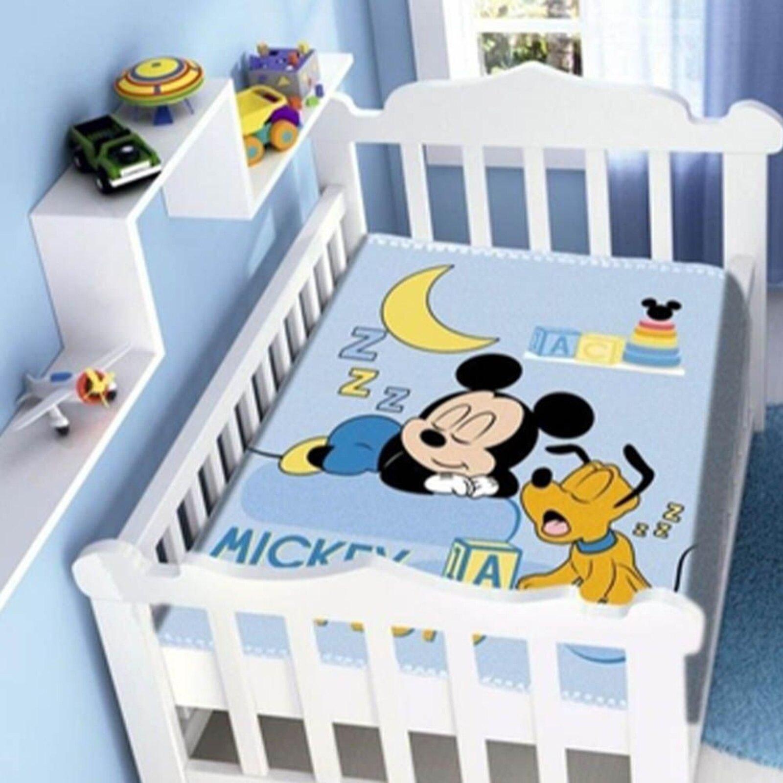 Cobertor Infantil Para Bebê Mickey Sonhando Disney Jolitex