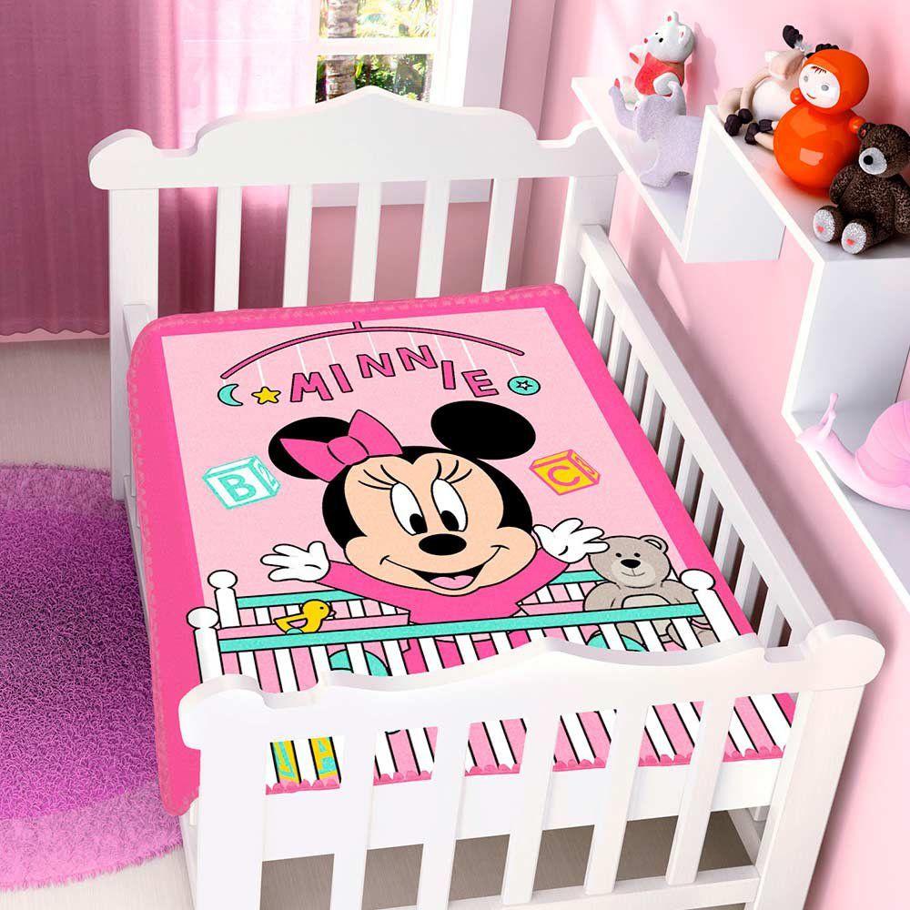 Cobertor Infantil Para Bebê Minnie Bercinho Disney Jolitex