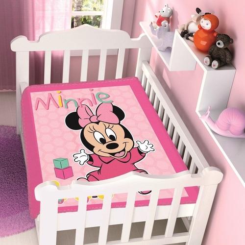 Cobertor Infantil Para Bebê Rosa Minnie Disney Jolitex