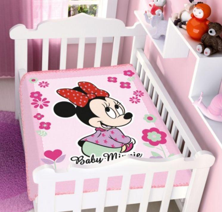 Cobertor Infantil Raschel Minnie Florzinhas Jolitex