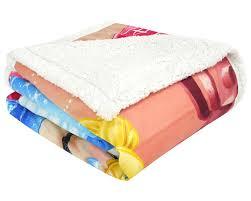 Cobertor Juvenil Digital Hd Disney Princesas com Sherpa Multicor Poliéster Jolitex