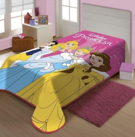 Cobertor Juvenil Raschel Plus Charme de Princesas Disney Jolitex