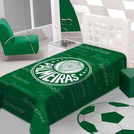 Cobertor Raschel Solteiro Avanti Palestra SE Palmeiras Jolitex