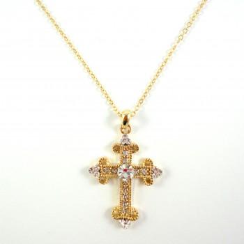 Colar Cruz Dourado