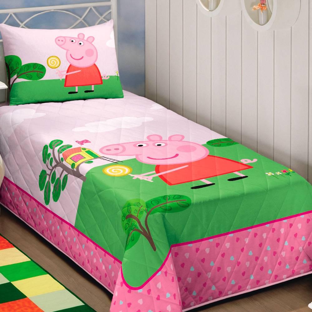 Colcha Infantil Matelassê Solteiro Peppa Pig 45648 Lepper