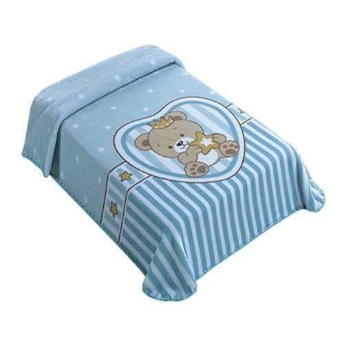 Cobertor Le Petit Raschel Superstar Azul 46806 Colibri