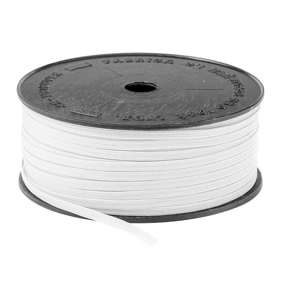 Elástico Branco Poliéster Colombe Crochet 4 mm - 100 m São José
