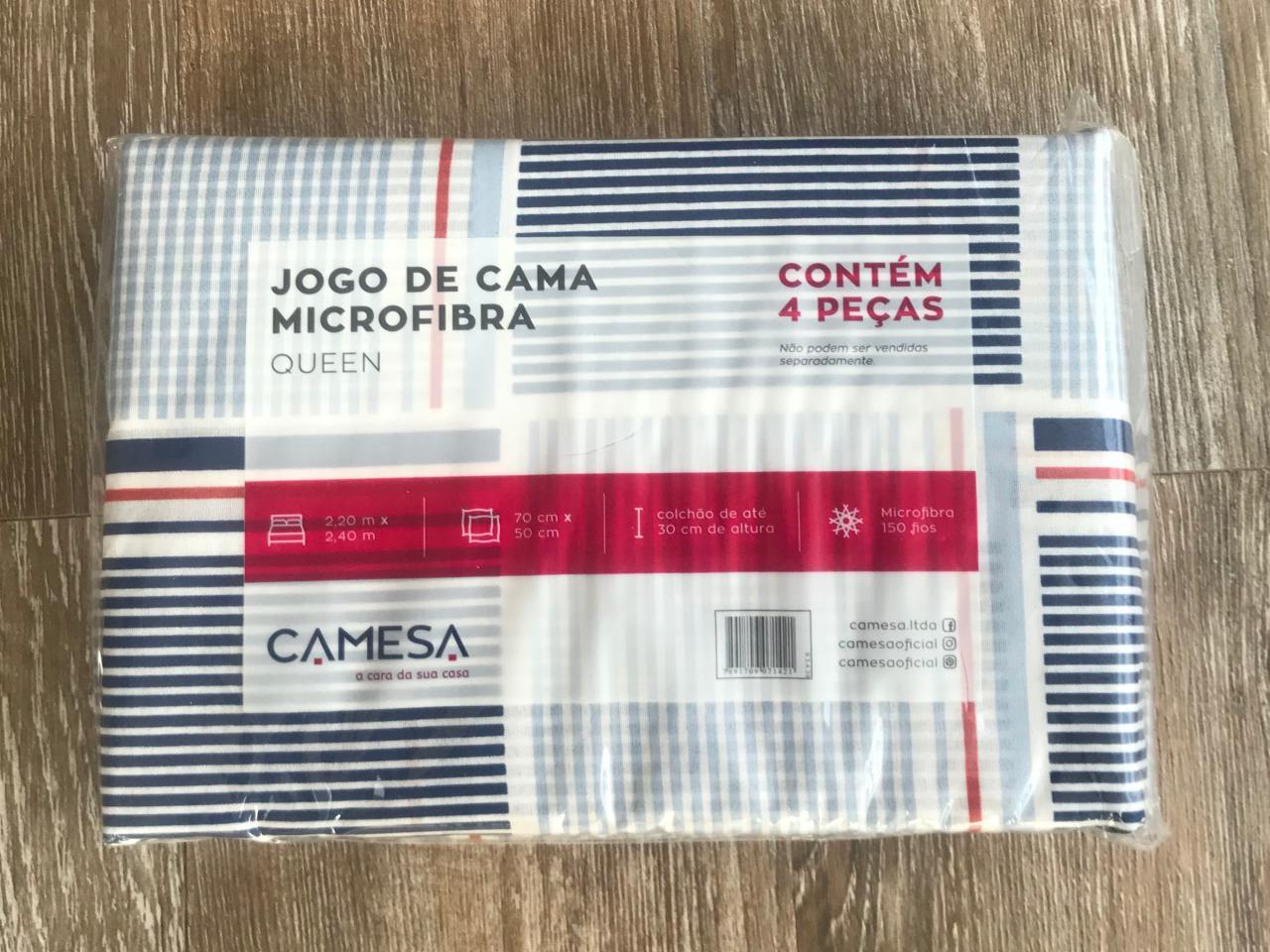Jogo de Cama Queen Cusco Microfibra 4 peças Camesa