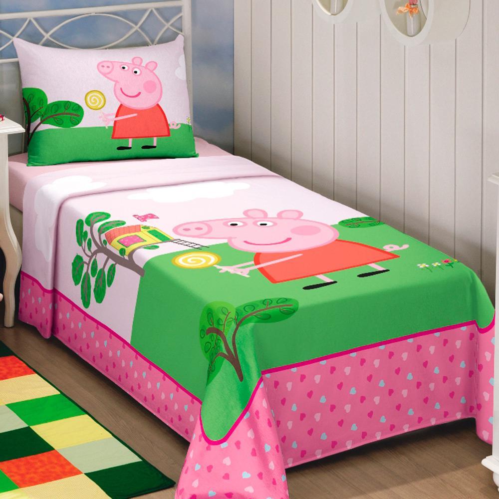 Jogo de Cama Solteiro Kids Peppa Pig 3 Peças Lepper