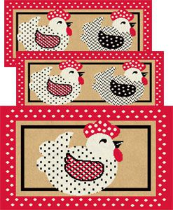 Jogo de Tapete para Cozinha 3 peças Carijó 10 Vermelho J. Serrano