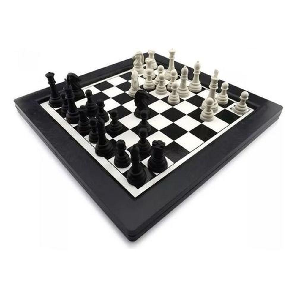 Jogo Xadrez e Trilha 24x24cm Dutati