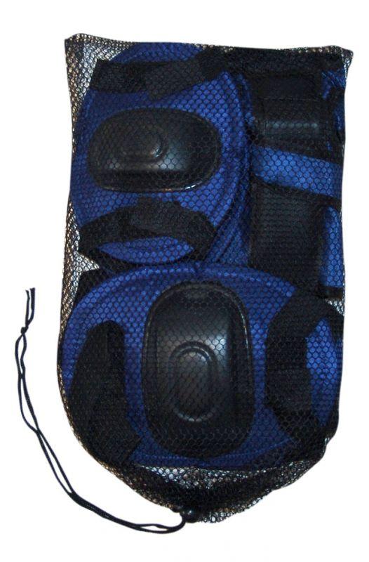 Kit de Proteção Infantil Azul G para Rollers e Skates Bel Fix