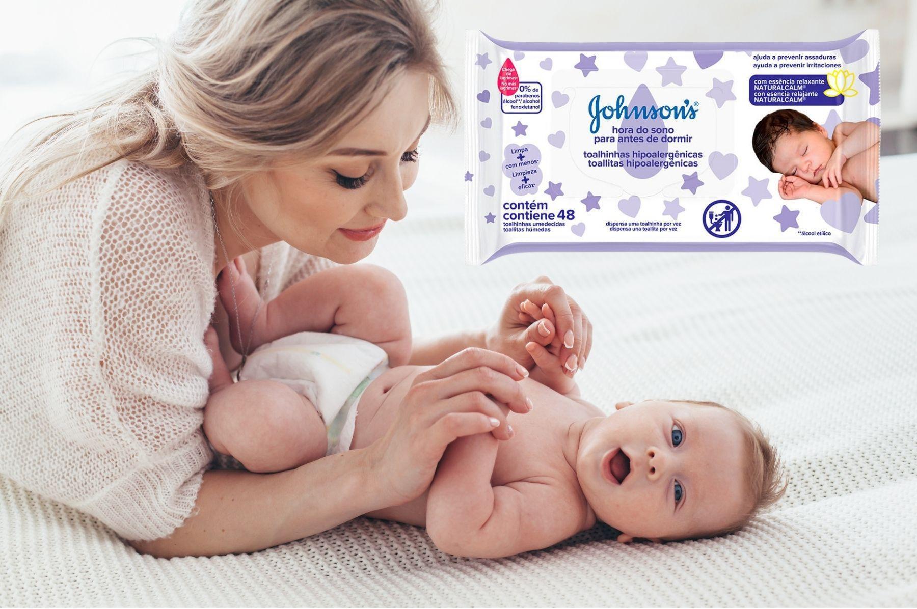 Lenços Umedecidos Johnsons Baby Hora Do Sono C/48 Unidades