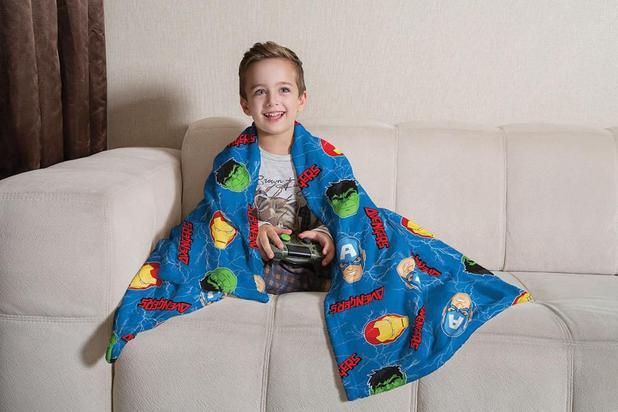 Manta de Sofá Avengers Vingadores Fleece 1,25X1,50m Lepper