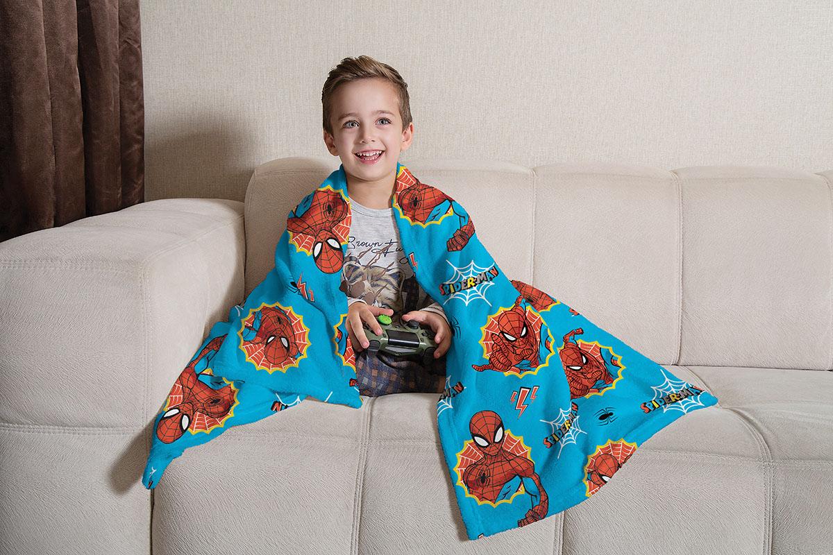 Manta de Sofá Homem Aranha Fleece Super Soft 1,25X1,50m Lepper