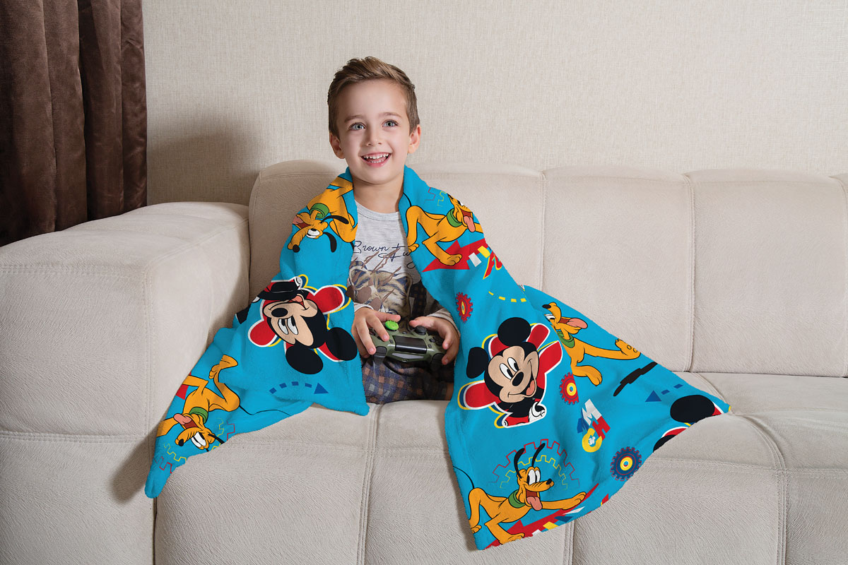 Manta de Sofá Mickey Fleece Super Soft 1,25X1,50m Lepper